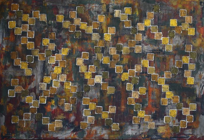 COVOR, pictura semnata de artistul vizual Florin Constantinescu