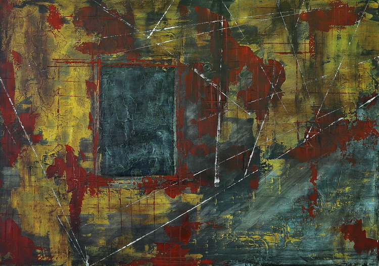 plasma pictura semnata de artistul vizual Florin Constantinescu