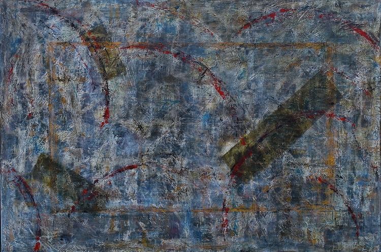 GENOM pictură semnată de artistul vizual Florin Constantinescu